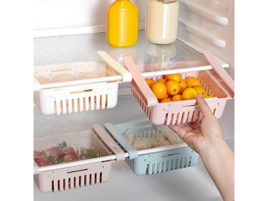Praktický nastavitelný úložný box do ledničky FrigiBox