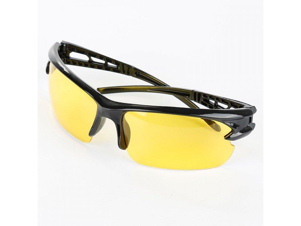Ochranné cyklistické brýle žluté UV400
