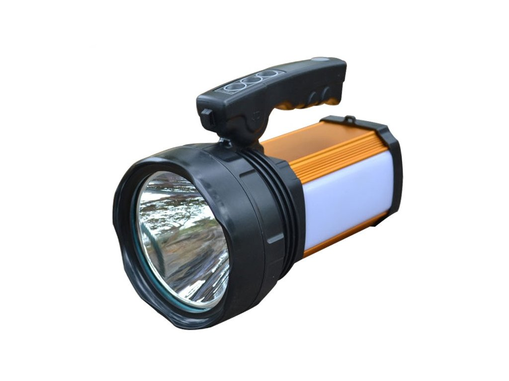 Portable searchlight Led camping outdoor flashlight rechargeable waterproof lamp with charger and 5000ma Built in battery 19