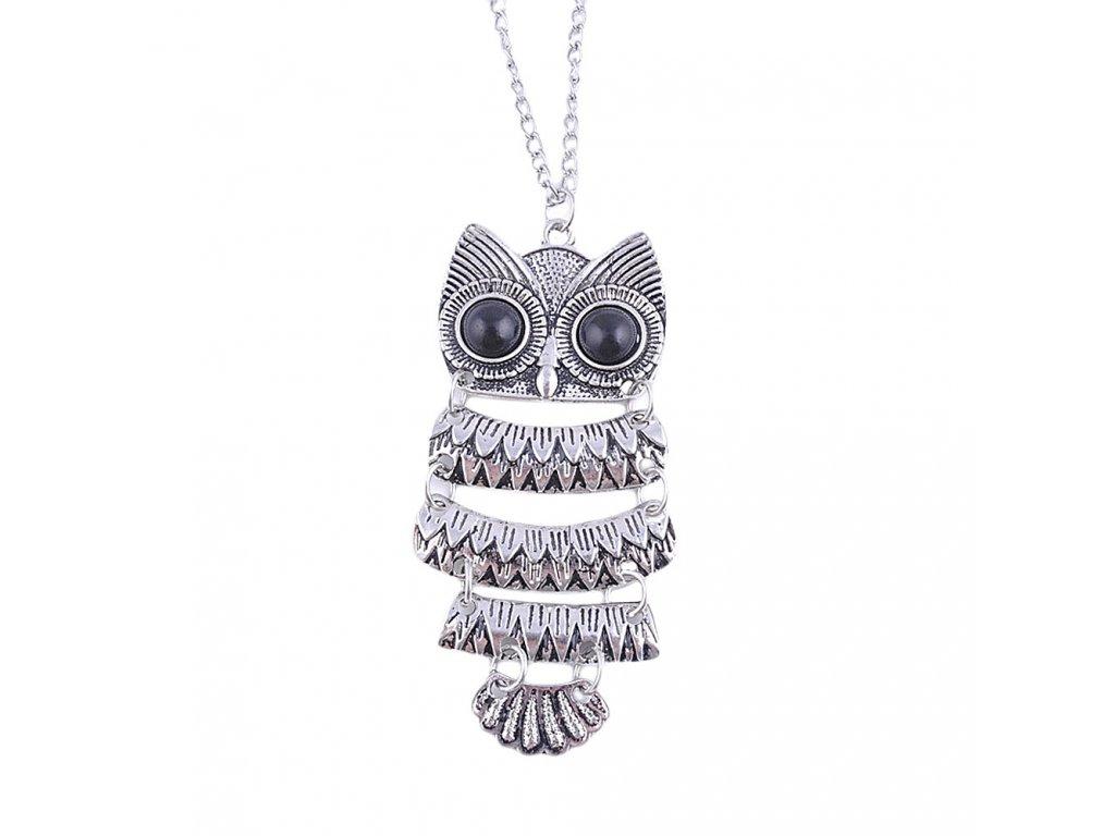 saatleri 2017 New Fashion Lady Women Vintage Silver Owl Pendant Necklace Best Gift For XMAS Female 5