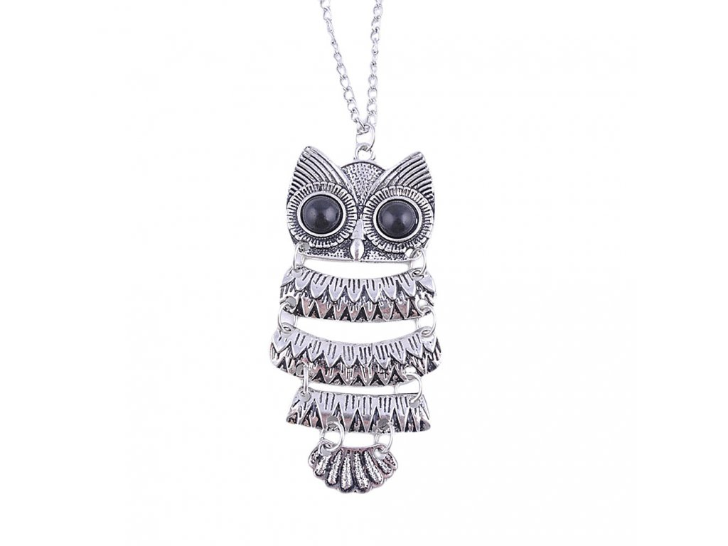 saatleri 2017 New Fashion Lady Women Vintage Silver Owl Pendant Necklace Best Gift For XMAS Female 5