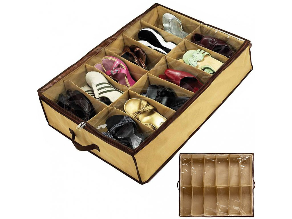 eng pl Box Shoe Organizer 12 Pairs Shoes Cover 1050 1 3