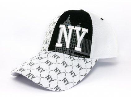 Kšiltovka NY bílá
