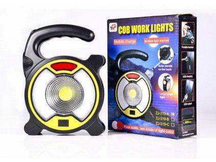 smernit powerful cob led work light multifunctional outdoor camping solar light portable emergency solar lanterns lighting