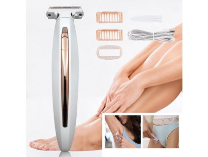 0 Portable Painless Electric Lady Shaver Body Flawless Body For Women Full Body Shaver Razor Trimmer Rechargeable