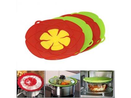 Multifunctionele Koken Gereedschap Bloem Kookgerei Onderdelen Siliconen Overkoken Spill deksel Stopper Oven Veilig Voor Pot Pan.jpg 640x640