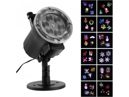 0 Outdoor Waterproof Christmas Lights ED Laser Snowflake Projector RF Wireless Remote 16 Film Cards Light Home