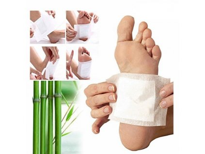 0 10pcs Detox Foot Pads Bamboo Vinegar Body Feet Care Cleansing Relieve Fatigue Foot Patches TSLM2
