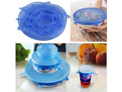 0 6PCS Set Silicone Super Stretch Lid For Bowl Cover Cup Fresh Fruit Food Container Covers Silicone