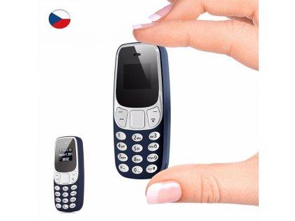 Miniaturní mobilní telefon L8Star MB10 - 6,8 cm CZ (Barva černá)