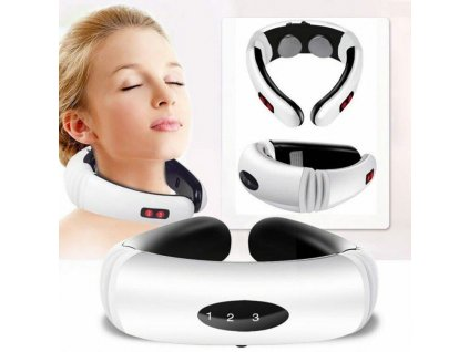 0 Electric Pulse Back and Neck Massager Far Infrared Heating Pain Relief Health Care Relaxation Tool Intelligent