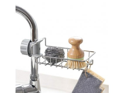 0 Stainless Steel Faucet Storage Racks Adjustable Sink Rag Sponge Draining Rack Kitchen Bathroom Soap Storage Holders