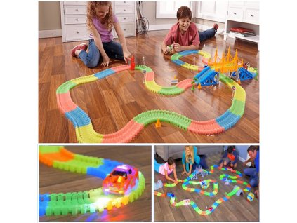 kidsbaron glowing race tracks magic tracks 240 super set (1)