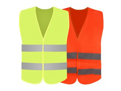 Fashion Green Orange Car Reflective Strip Vest Car Emergency Reflective Vest Fluorescent Mesh Vest Safety Breathable