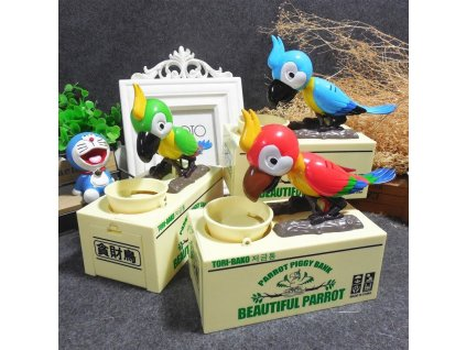 reative 1 piece lovely parrot coin bank main 0