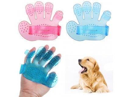 Masážní a čistící rukavice na mazlíčky Pet Wash Brush