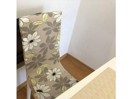 0061896 elasticky potah na zidli sedy