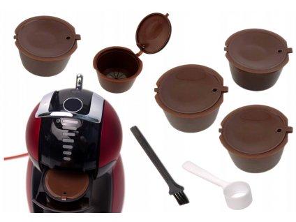 Opakovaně plnitelné kapsle do kávovaru - 5ks