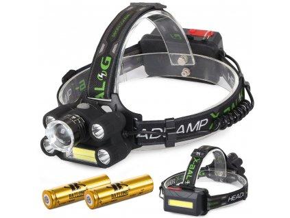 eng pl Bailong Headlamp 5x LED COB Cree XM L3 U3 279 1