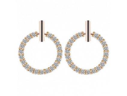 Dámské náušnice Krystalové kruhy K1500