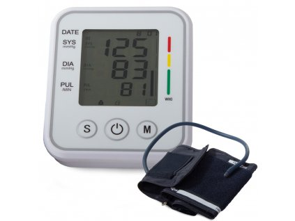 eng pl Upper arm blood pressure monitor lcd electronic case 2152 13