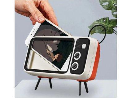 Retro držák telefonu s reproduktorem 3v1