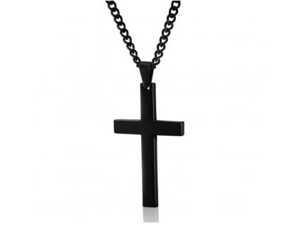2017 Cross Necklaces Pendants For Men Stainless Steel Gold Colour Male Pendant Necklaces Prayer Jewelry YK5046 Black
