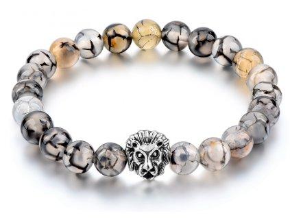 CHICVIE Natural Stone Gold color Lion strand Men Bracelet Femme Handmade Beads Bracelets Ethnic Men Jewelry SBR170005DE