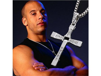 Punk Fast and Furious 8 Long Pendant Necklace Dominic Toretto Vin Diesel Silver Plated Cross Necklace 1