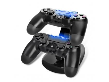 LED Dual USB Charging Dock Docking Charger Cradle Station Stand for Sony Playstation 4 PS4 Game 70