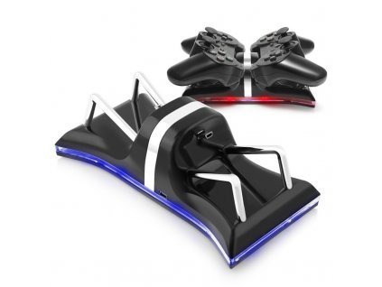 USB Dual Controllers Ports Charge Station Charging Dock Stand For Sony PlayStation 3 Blue Light usb 96