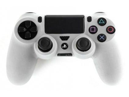 White color of Silicone Case Skin Cover for PS4 Controller 10pcs lot with free shipping 46