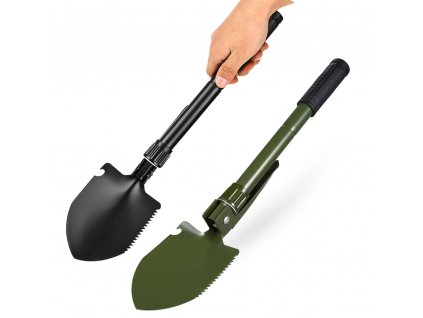 Mini Military Folding Shovel Survival Spade Entrenching Tool Multi functional Stainless Steel Shovel with compass for 1