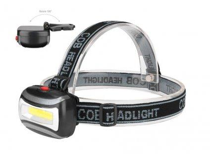 Nabíjecí čelovka Headlamp 5 x CREE LED  + Čelová lampa COB 3W LED a příslušenství ZDARMA