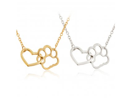 Hollow Pet Paw Footprint Necklaces Shellhard Cute Animal Dog Cat Love Heart Pendant Necklace For Women 15