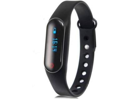little black smart bracelet pedometer sleep monitor sports tracker e 476752 (1)