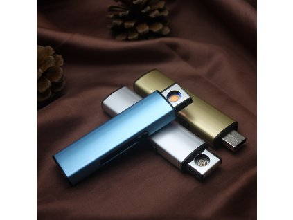 USB Electronic Lighter Rechargeable Cigarette Lighter Windproof Plasma ARC Lighter Encendedor Smoking Gadgets For man No 1