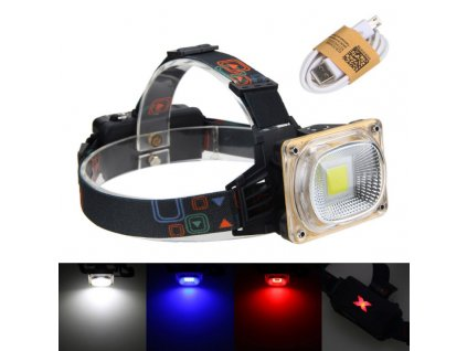 Dobíjecí čelovka Headlamp W606 1x COB LED MAXI  + Příslušenství ZDARMA