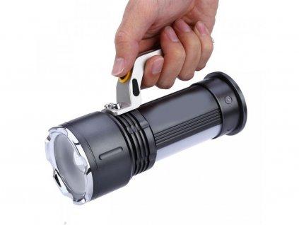 Ruční hliníková LED svítilna 800 lumenů  + Příslušenství ZDARMA