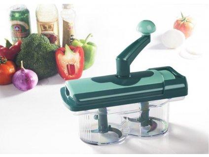 Multifunkční ruční kráječ/drtič na ovoce a zeleninu