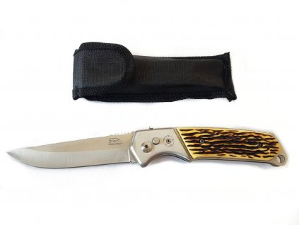 Vystřelovací nůž 24cm s pouzdrem (rukojeť paroží)  + Pouzdro zdarma