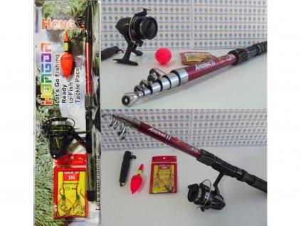 Dětská sada na rybaření Fish Mark - prut 1,80m + naviják + doplňky