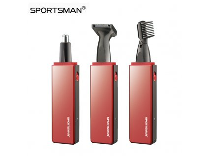 SPORTSMAN Electric Nose Hair Trimmer Rechargeable 3 in 1 Nose Trimmer for Men Trimer Removal Sideburns 1