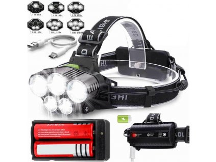 0 NEW Headlamp Rechargeable Head light T6 LED Tactical Headlamps Zoomable Charger 18650 Super Bright Led Light