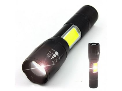 COB Aluminum Alloy Light Flashlight Mini Zoom LED Flashlight Multi Purpose Flashlight