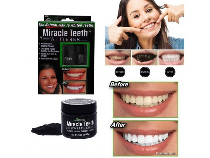 Přírodní uhlí pro bělení zubů Miracle Teeth Whitener