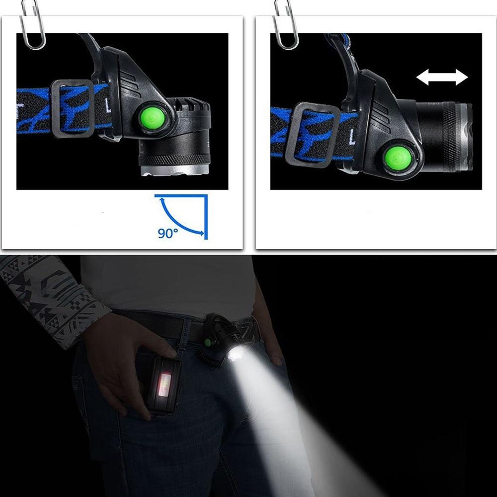 Čelová lampa Headlight Alu ZOOM T6 CREE LED 2000 Lumenů + příslušenství ZDARMA
