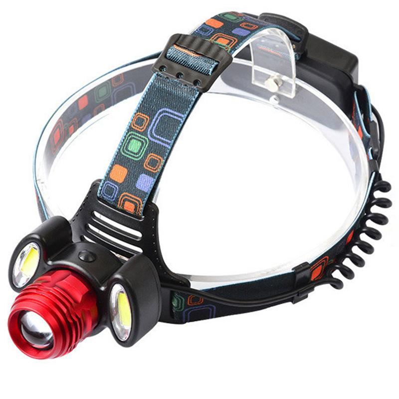 Čelová lampa Headlamp 1 x CREE LED + 2 x COB LED + Příslušenství ZDARMA