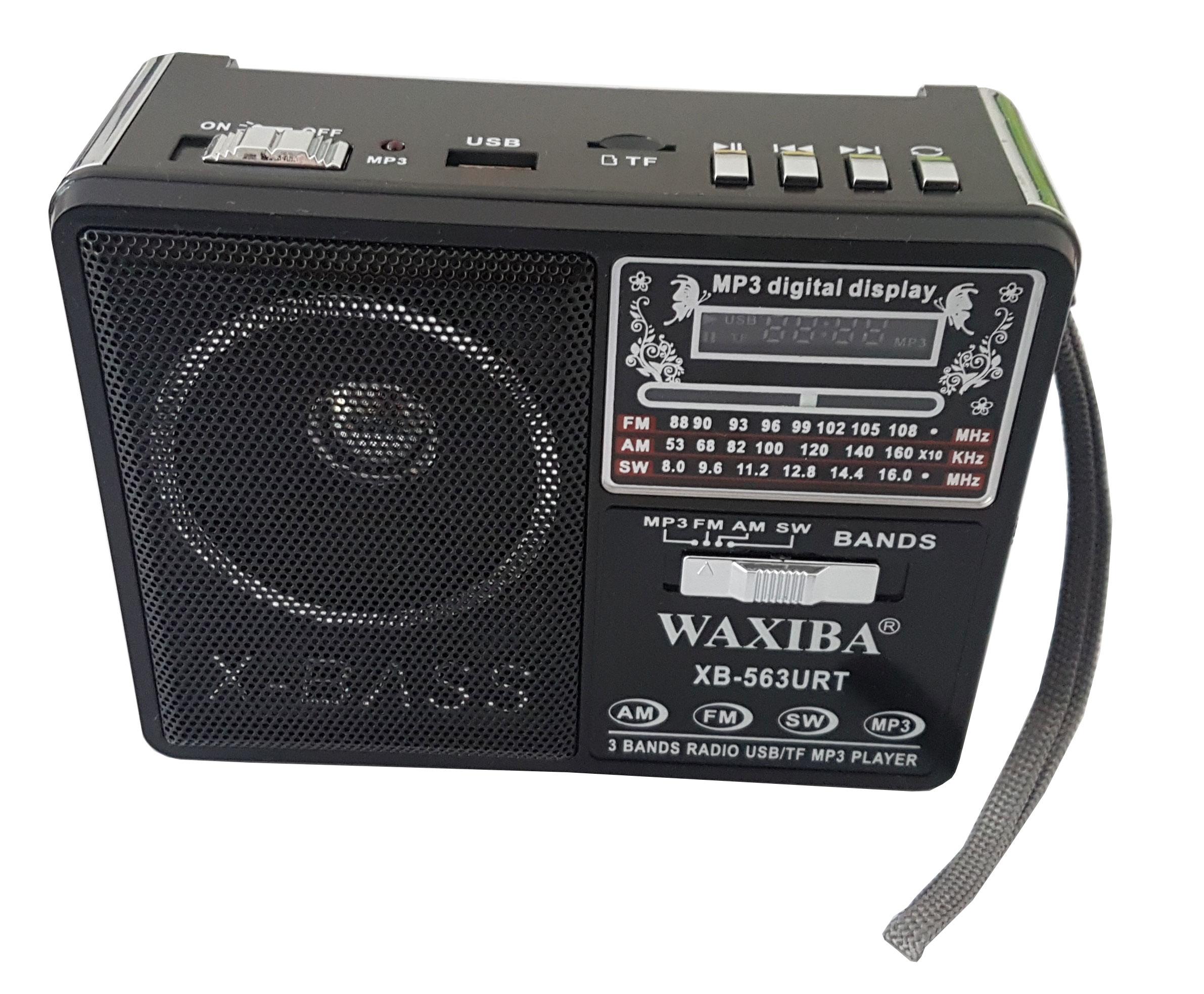 Přenosné rádio s přehrávačem MP3, FM, AM, USB XB-563URT
