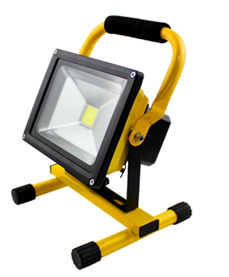 Přenosný LED reflektor 30W + dobíjecí baterie a nabíječka